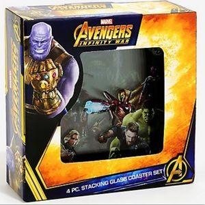 Marvel Avengers Infinity War Glass coasters